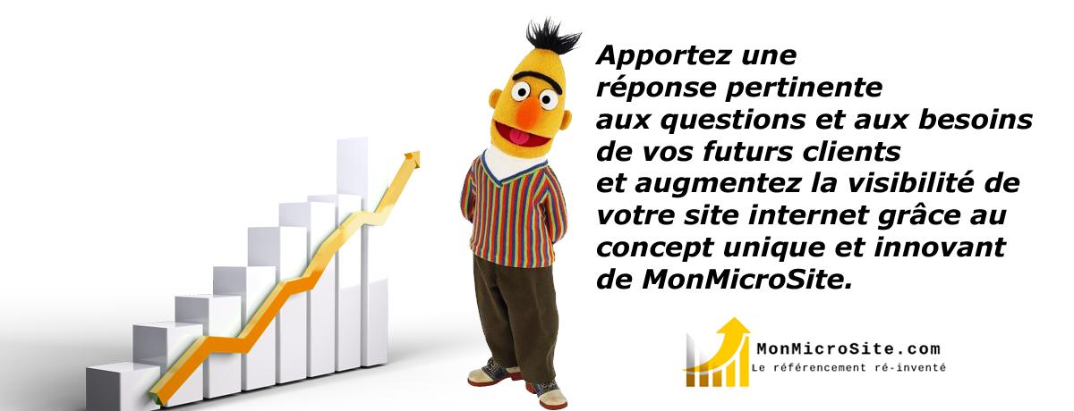 Répondez aux intentions de recherche et apportez une réponse pertinente aux questions et aux besoins de vos futurs clients avec MonMicroSite.